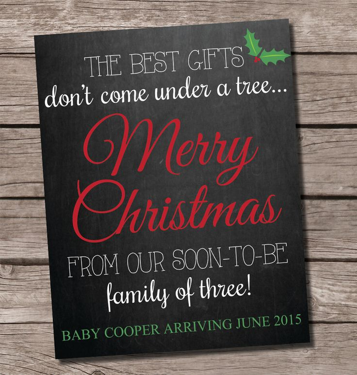 1000 ideas about Holiday Pregnancy Announcement – Christmas Baby Pregnancy Announcement