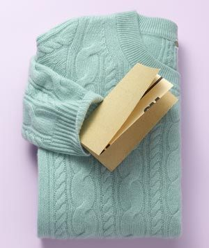 Sandpaper as Knit Depiller - Wipe fine-grit sandpaper GENTLY over a sweater in one direction to lift pesky pills