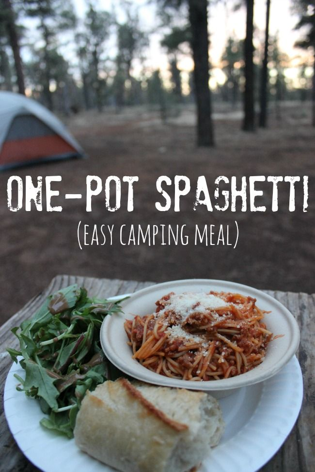 Simple Tenting Meal: One-Pot Spaghetti Recipe • The Biswolds