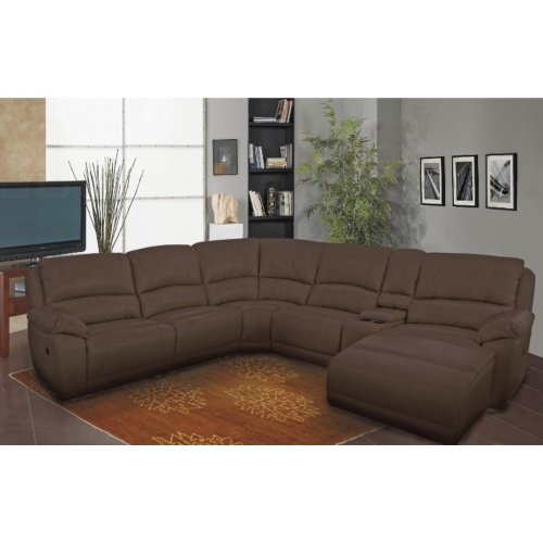 Cindy 6-Piece Leather Reclining Sectional - Chestnut | HOM Furniture | Comfortable Living | Pinterest | Reclining sectional Minneapolis minnesota and ...  sc 1 st  Pinterest : hom furniture sectionals - Sectionals, Sofas & Couches