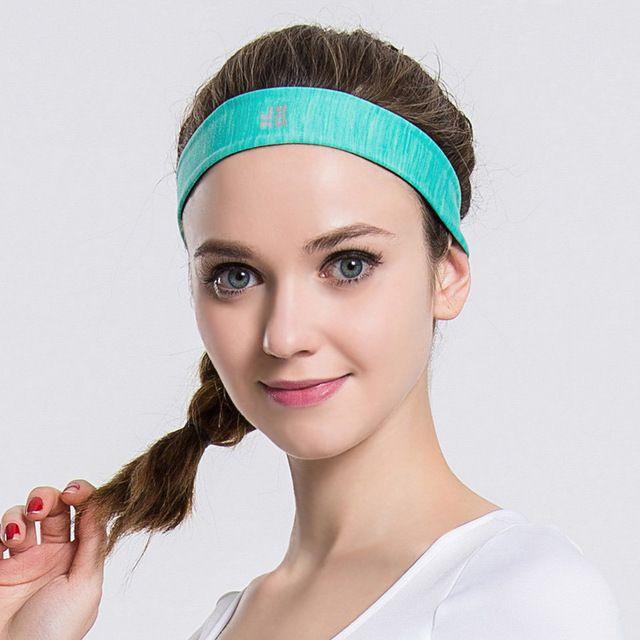 New Men Women Sweatband Quick Dry Hair Bands Sweat Absorbing Running Yoga Gym Stretch Head Band Sports Safety Sweat Headbands