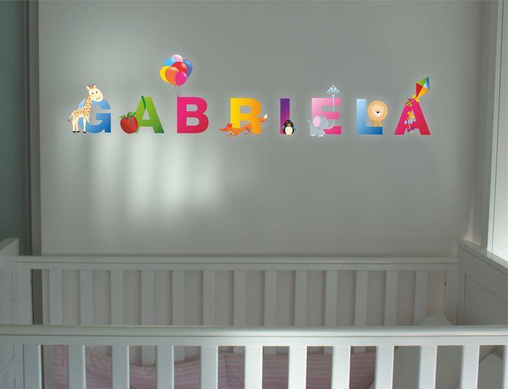 Desenho autocolante nome Gabriela