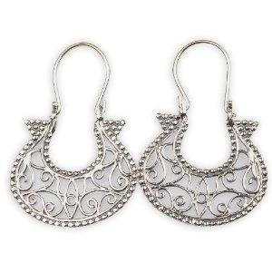 Boucles d'oreilles en Argent fin - Cadeau Anniversaire: ShalinCraft: Amazon.fr: Bijoux