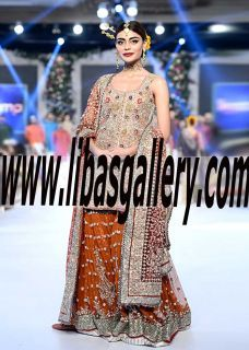 Majestic Bridal Dress features marvelous and sweet embellishments for Reception and Valima. Karma Designer Bridal Dresses. Book your appointment to shop your favorite Bridal dress details are the link www.libasgallery.com #UK #USA #Canada #Australia #SaudiArabia #Norway #Dubai #Bahrain #Kuwait #Norway #Sweden #NewZealand #Austria #Switzerland #Germany #Denmark #France #Ireland #Mauritius #Scotland #Netherlands #newarrivals #gharara