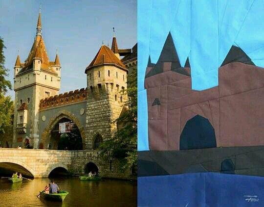 Vajdahunyad castle Hungary- self-made pattern