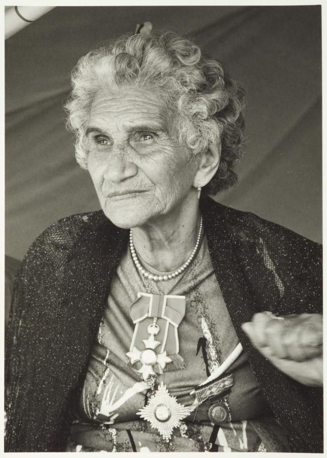 Dame Whina Cooper nee Te Wake. 1980s, New Zealand. Maori leader and a cronekuia keeper of traditional knowledge via @reeciem
