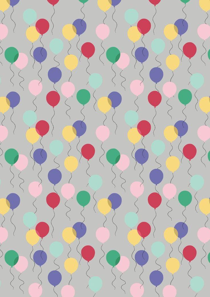 Balloons - Grey Fabric - Shop for it at www.valliandkim.com