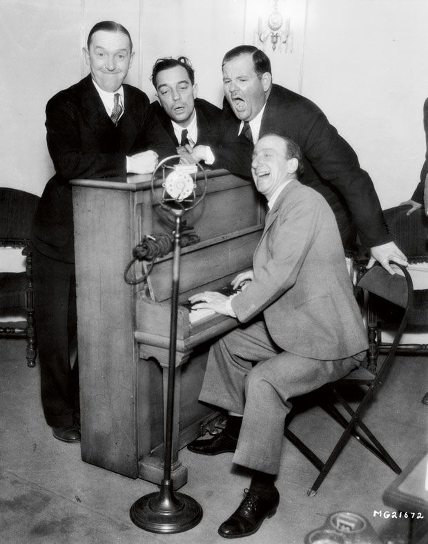 Stan Laurel, Buster Keaton, Oliver Hardy and Jimmy Durante - MGM, um 1931 | © John Kobal Foundation