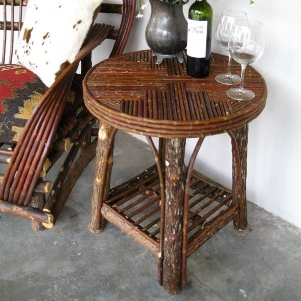 how to make a twig table | twig end table 866 923 6932 willow lane this authentic willow twig ...