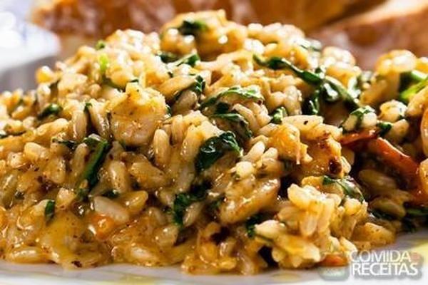 Receita de Risoto de espinafre - Comida e Receitas