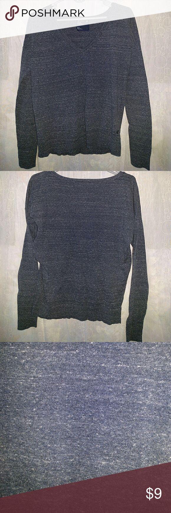 American Eagle Outfitters V-neck Sweater Blue-grey AE v-neck sweater. American Eagle Outfitters Sweaters V-Necks