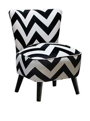 51% OFF Skyline Furniture Modern Chair, Zig Zag Black/White