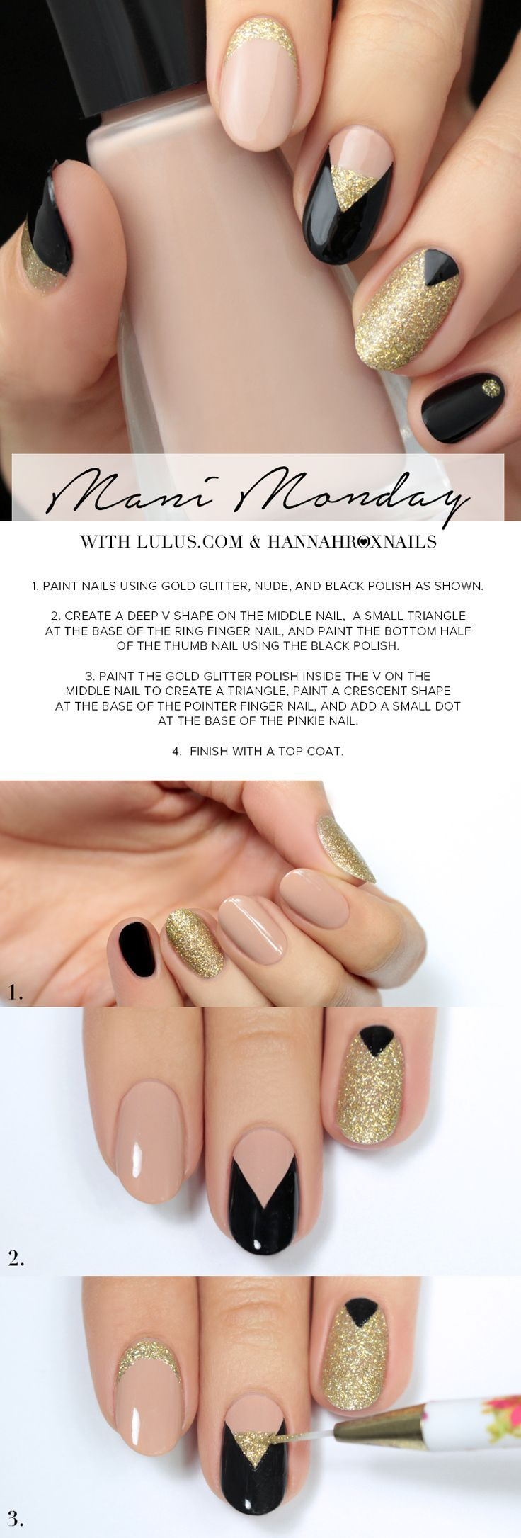 198 best gold nails design images on pinterest | nail designs