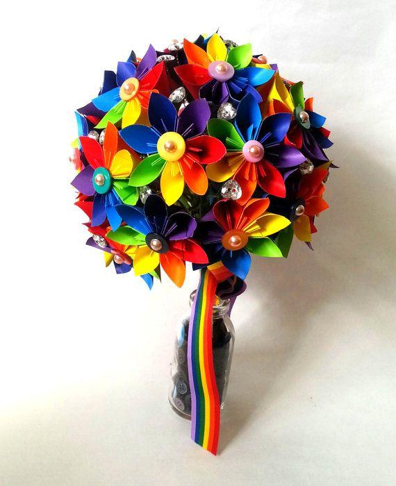 Papier fleur Origami Bouquet Corsage par LilyBelleKeepsakes sur Etsy