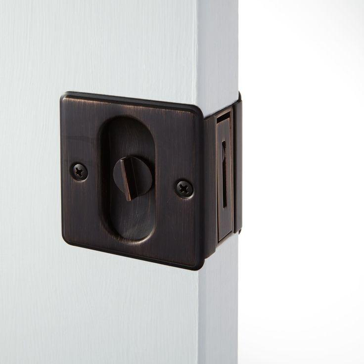 INTERIOR POCKET DOORS Nestore Pocket Door Pull Set - Passage, Privacy