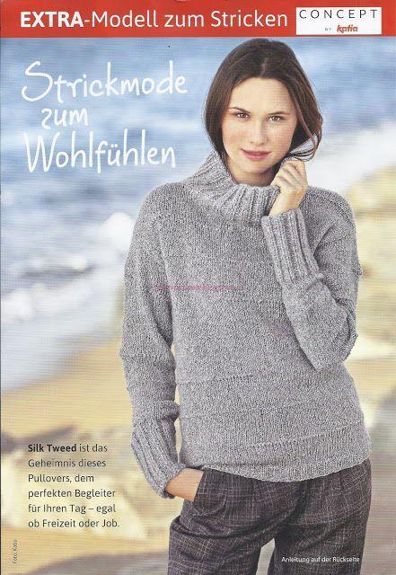 ВСЕ СВЯЗАНО. ROSOMAHA.: Простой, но очень стильный свитер из шелкового твида.