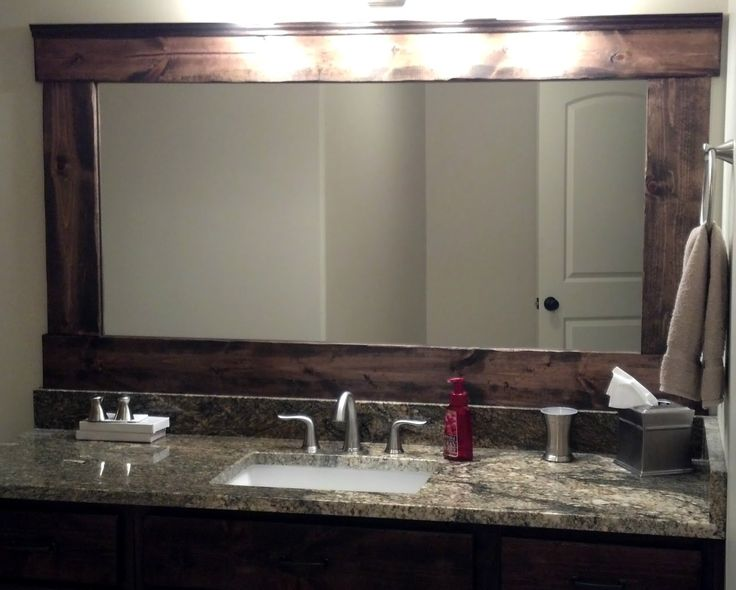 Digital Art Gallery Down to Earth Style Make a Chunky Bathroom Mirror Frame no miter cuts