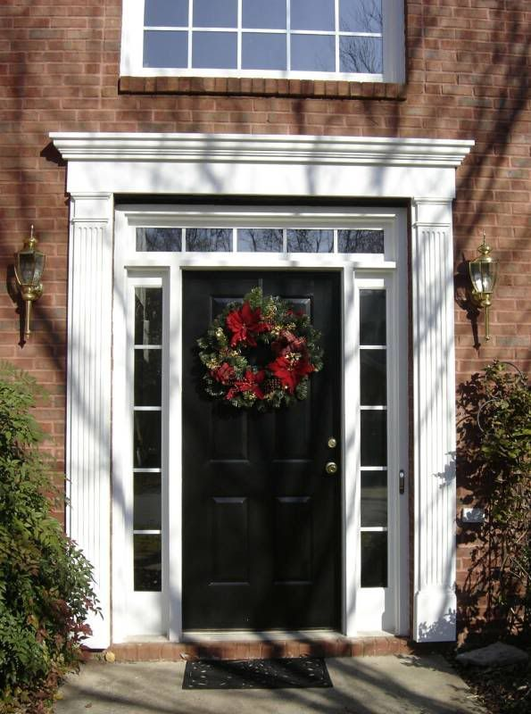 Black Entry Door With Sidelights