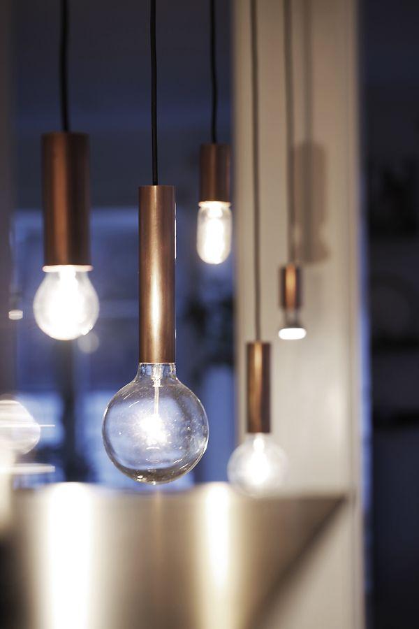 : DIY copper lamps