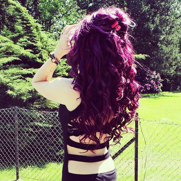 ♥ omg i want this plum hair color!!!