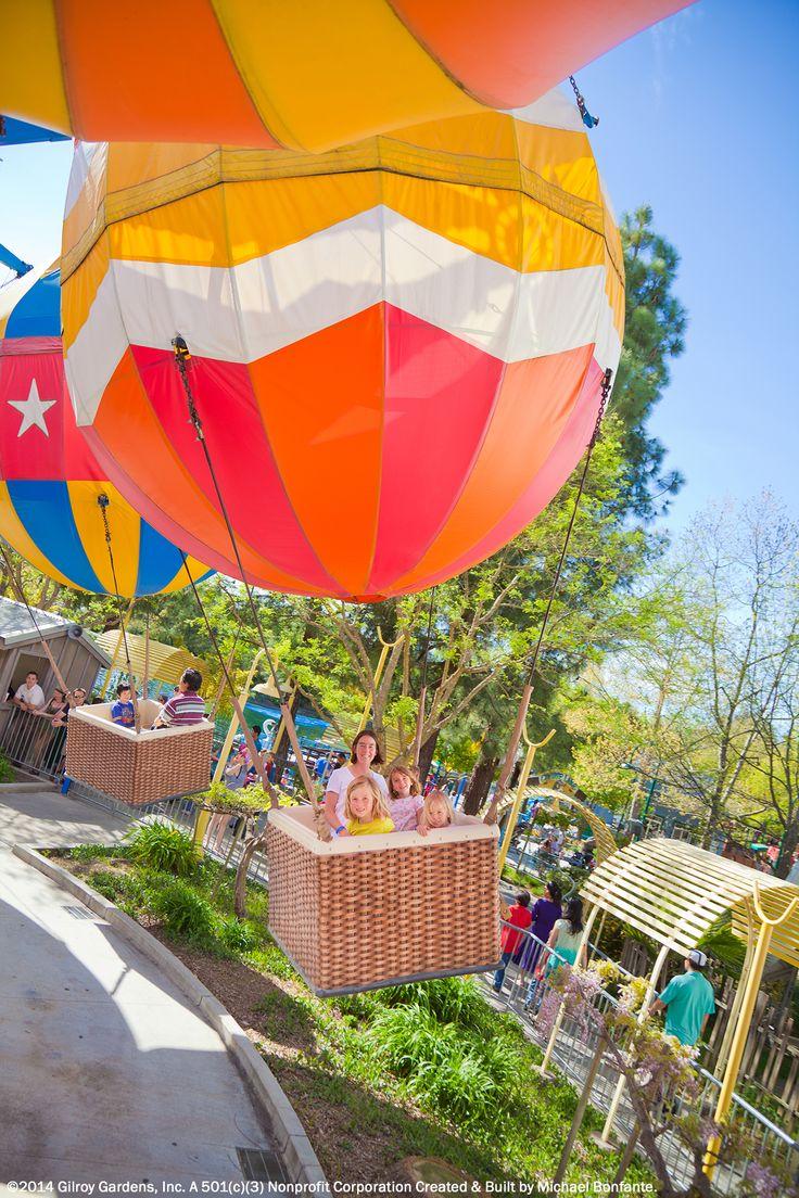 Hot Air Balloon Fun At Gilroy Gardens. Come Visit Our Theme Park! Http: