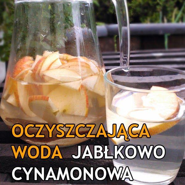 Oczyszczająca woda smakowa jabłkowo-cynamonowa  http://dolinaziol.blogspot.com/2014/06/oczyszczajaca-woda-smakowa-jabkowo.html#more  Po co kupować smakowe wody w sklepie jeśli można je zrobić samemu w domu. Taka woda dodaje energii, oczyszcza organizm oraz jest idealna dla ludzi dbających o linię. jedna szklanka to tylko 10 kalorii!
