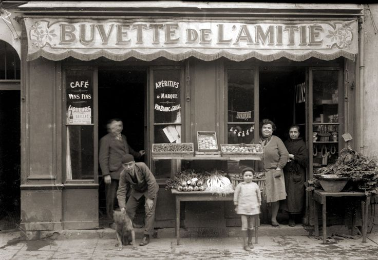 Commerce Bar Café Buvette de l Amitié - Toulouse Photo ancienne 1920 retirage