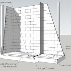 how to build a zero entry shower