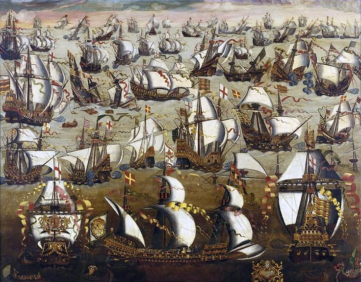 Invincible Armada-Anglo-Spanish War (1585-1604) English ships and the Spanish Armada,August 1588,In retaliation for the execution of Mary,Philip vowed to invade England to place a Catholic monarch on its throne.He assembled a fleet of about 130 ships,containing 8,000 soldiers and 18,000 sailors.To finance this endeavour,Pope Sixtus V had permitted Philip to collect crusade taxes.Sixtus had promised a further subsidy to the Spanish should they reach English soil.
