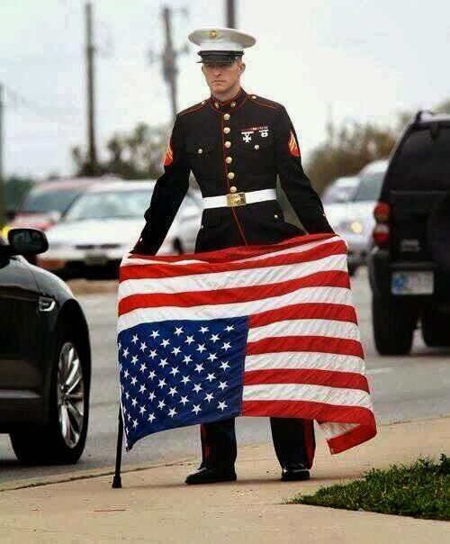 When you see this..... You know America is in trouble! A upside down flag means the United States is under distress. So pay attention to the signs and inform the uninformed.