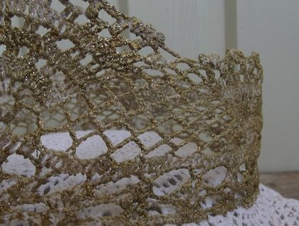 Gold Lace Crown for a tween-adult