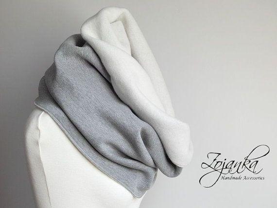 GREY CHUNKY Infinity Scarf infinity scarf extra CHUNKY by Zojanka
