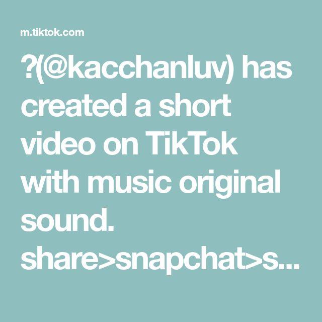 Kacchanluv Has Created A Short Video On Tiktok With Music Original Sound Share Snapchat Save Mmmdrop Foryoupa Greenscreen Haikyuu Haikyuu Wallpaper