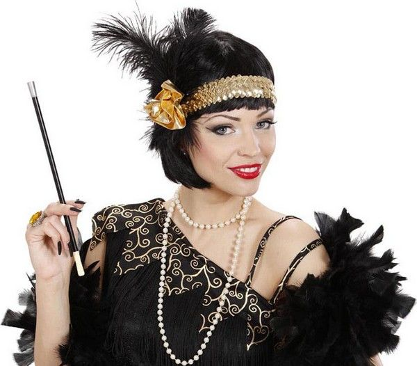 Ce bandeau sera parfait pour compléter un déguisement charleston à l'occasion d'une soirée sur le thème des années 20.