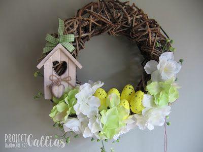 ProjectGallias:#projectgallias, DT D.I.Y. czyli zrób to sam, Spring wreath, Wiosenny wianek