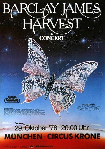 Barclay James Harvest - Munich 1978, concert poster