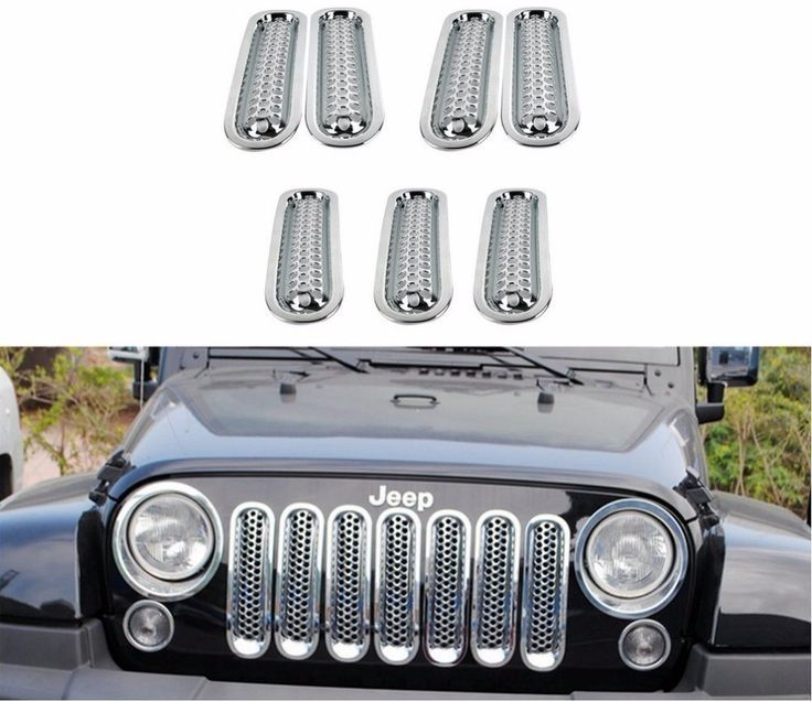7pcs Grill Mesh Front Grille Insert Kit For Jeep Wrangler Jk Sahara Sport Rubicon 2007-2016 - Buy Car Chrome Front Grille,Jeep Wrangler Front Grill,Front Grille Insert Product on Alibaba.com