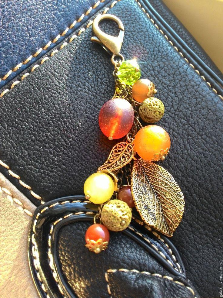 Купить Подвеска на сумку Осенний сад - комбинированный, цветочный, брелок на сумку, брелок, Украшения для скрапа