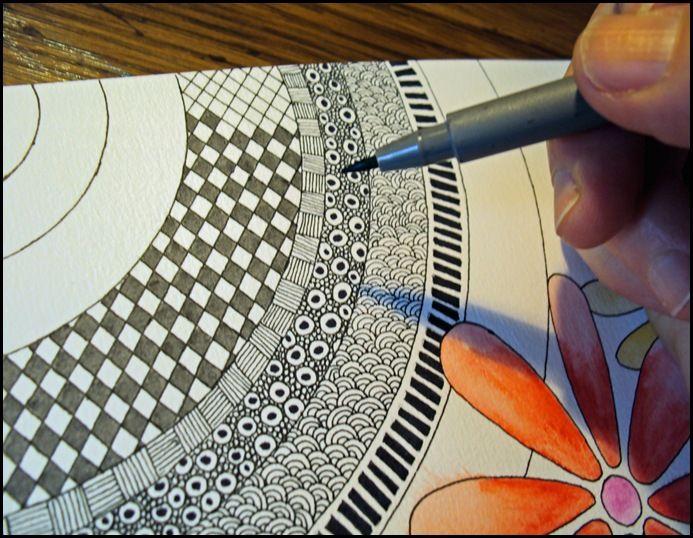 coloring in #zentangle