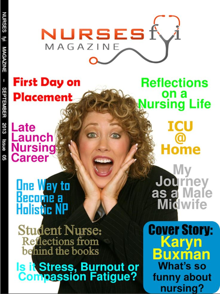 August edition of Nurses fyi Magazine has Karyn Buxman on the cover.