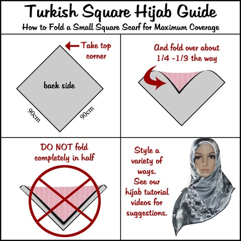 Turkish Square Hijab Guide: How to Fold a Small Square Scarf for Maximum Coverage