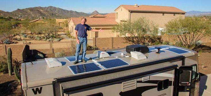 Flexible Solar Panels Installed On A Motorhome Rv Roof Sola Solar Roof Flexible Solar Panels Best Solar Panels