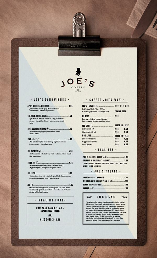 Joe's Coffee by Trevor Finnegan, via Behance