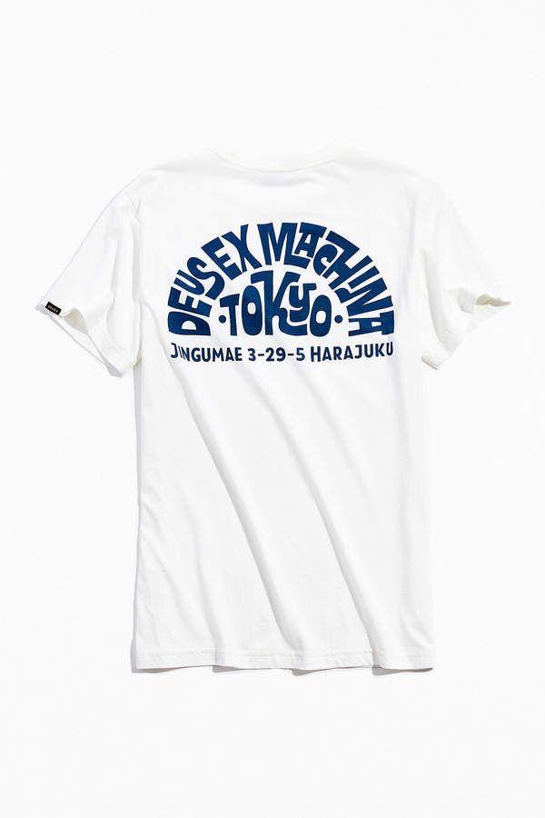 Deus Ex Machina Tokyo Address Tee Deus Ex Machina Shirt Print Design Deus Ex