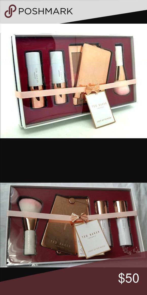 Ted baker bronzer set  Ted baker bronzing set. Adorable packaging and the most perfect bronzing set with highlighter. Bronzer. Blushes. And brush  Ted Baker Makeup Bronzer