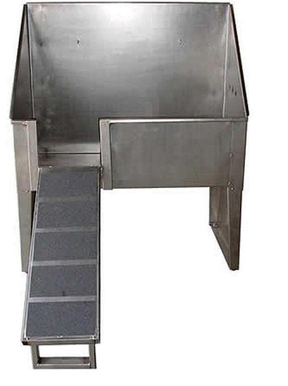 Bañera acero inox. con escalera.