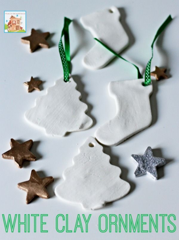 White clay ornaments, these are beautiful and make really effective christmas decorations