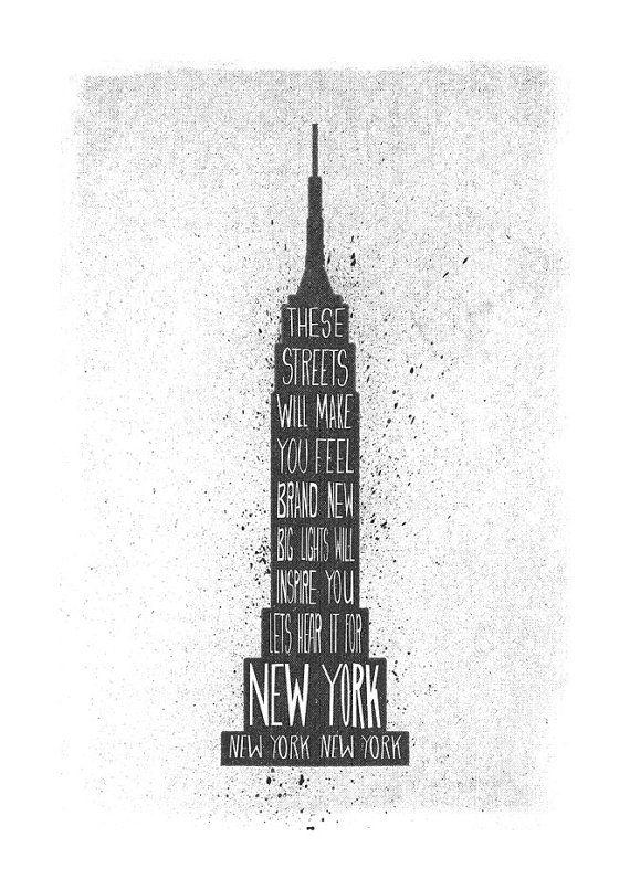 New York stampa grande città canzone lirica di FoxAndVelvet