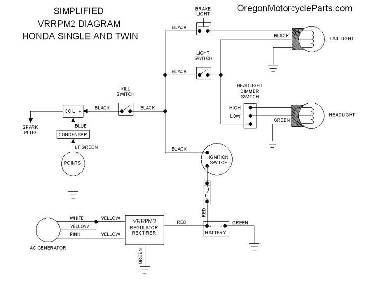 honda cb350 simple wiring diagram - google search | useful ... 76 cb750 wiring diagram easy 1976 honda cb750 wiring diagram #6
