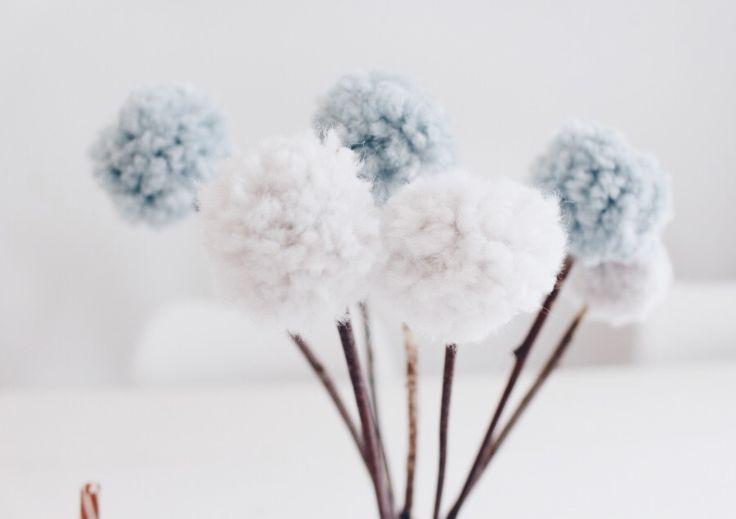 Pom Pom Blumen – Tischdekoration mal anders – Anregungen Wohnung